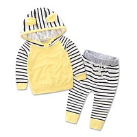 SAMGAMI Newborn babies Clothing set  Girl Baby Sets Long Sleeve Cotton Toddler Baby Girl Clothes Hoodies+Pant Christmas sets