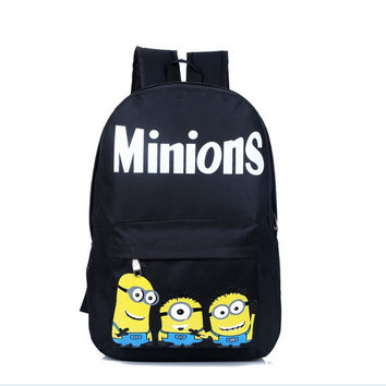 Comfort Hot Deal College On Sale Back To School Casual Stylish Minions Alphabet Print Backpack [6581741319]