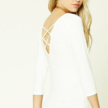 Ribbed Crisscross-Back Top