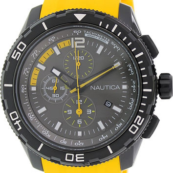 Nautica N19629G NST 101 Chrono With Yellow Resin Band