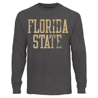 Florida State Seminoles Straight Out Long Sleeve T-Shirt – Charcoal