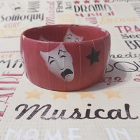 Drama Mask Bracelet, Drama Student Jewelry, Gift for Theatre Teachers, Musical Student gifts, Graduation Gifts for Drama/Theater Students