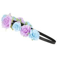 Elasticated Floral Garland - Hair Accessories - Bags & Accessories
