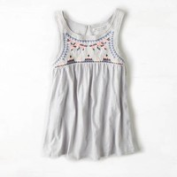 AEO EMBROIDERED SWING TANK