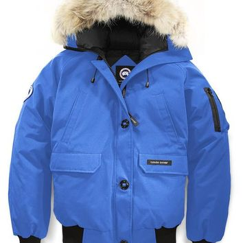 Canada goose chilliwack bomber winter WOMEN Down jacket/sky blue