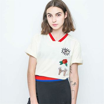 Adidas Originals Embellished Embroidered T-shirt