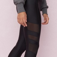 Mesh and Shiny Combo Legging
