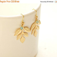 ON SALE Bridal Earrings,Athena Earrings, Greek Goddess Earrings, Leaf Earrings, Bridal Jewelry, Bridesmaid Accessories