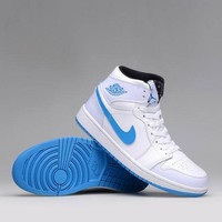 Men's Nike Air Jordan 1 Retro Blue White