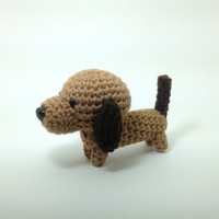 Dachshund Wiener Dog Amigurumi Dog Crochet Dog Stuffed Animal Doll / Made to Order