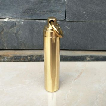 Outdoor Waterproof Tank Brass Sealing Box Pure Brass Mini Metal Drug Waterproof Storehouse EDC Tool And Equipment Pocket Tools
