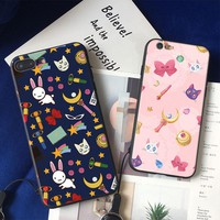 Sailor Moon anime crystal Coque soft silicone TPU Phone Case cover Shell For Apple iPhone 5 5s Se 6 6s 7 8 Plus X XR XS MAX