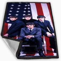 The Beatles American Flag Blanket for Kids Blanket, Fleece Blanket Cute and Awesome Blanket for your bedding, Blanket fleece *