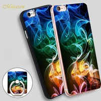 Minason neon smoke Mobile Phone Shell Soft TPU Silicone Case Cover for iPhone X 8 5 SE 5S 6 6S 7 Plus