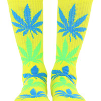 NEON YELLOW PLANTLIFE SOCKS
