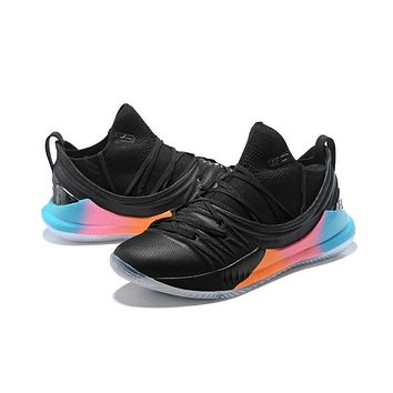 Under Armour Ua Curry 5 Black Colorful Basketball Shoe   Best Deal Online