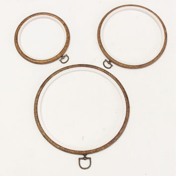 Wood Frame Embroidery Hoop Ring Circle Round Loop For CrossStitch Hand DIY Sewing Tool