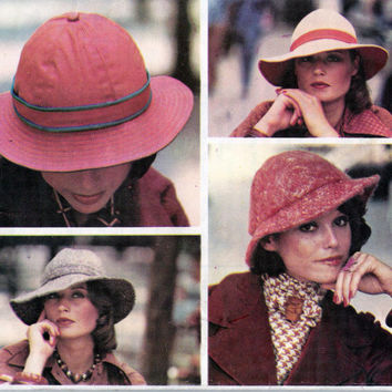 Womens Sun Hats Vogue 8836 Vintage Sewing Pattern Size MEDIUM