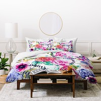 Holly Sharpe Rose Garden 01 Duvet Cover