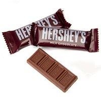 Hershey's Milk Chocolate Snack Size Candy Bars: 40-Piece Bag