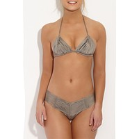Andrea Macrame Top - Taupe