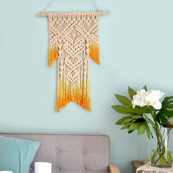 Hand Woven Tapestries Gradient Color Wall National Living Room Bedroom Decoration Wall Hanging Wall Mandala Tapestry