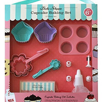 Handstand Kitchen Bake Shoppe 17-piece Cupcake Baking Set for Kids