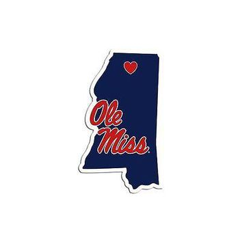 NCAA Mississippi Rebels Ole Miss Home State Auto Car Window Vinyl Decal Sticker
