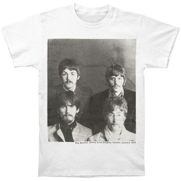 Beatles Men's  4 Beatles Mustache T-shirt White