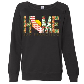 San Francisco Home Ladies Lightweight Fitted Crewneck