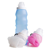 My Christmas Gift, Outdoor Sports Folding Silicone Kettle Portable Water Bottle Cup Travel