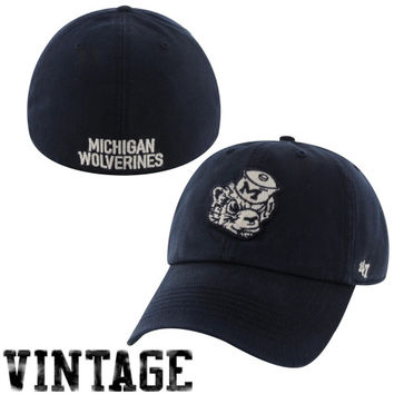 47 Brand Michigan Wolverines New College Vault Franchise Fitted Hat - Navy Blue