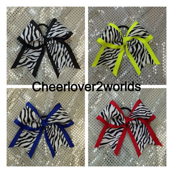 Large Cheer Cheerleading/Dance Ribbon Bow (custom)