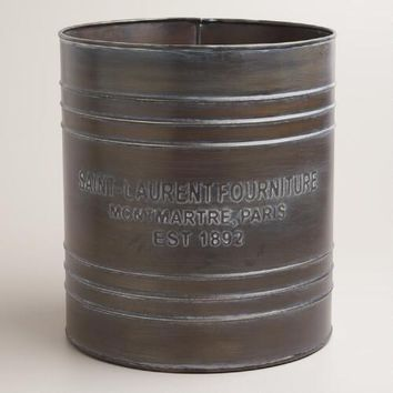 Embossed Metal St. Laurent Trash Can