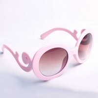 Fanciful Twist Baroque Swirl Arm Sunglasses in Pink | Sincerely Sweet Boutique