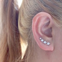 Star Sweeps, Star Ear Climber, Star Ear Crawler, Star CZ Ear Pins