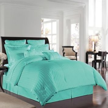 Wamsutta® 500 Damask Comforter Set in Aqua