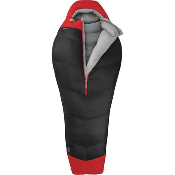 The North Face Inferno Sleeping Bag: -40 Degree Down Asphalt Grey/Centennial Red,
