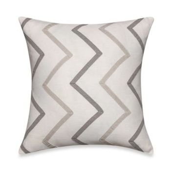 Nautica® Margate Chevron Square Toss Pillow in Grey