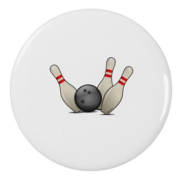 "Bowling Ball with Pins 2.25"" Round Pin Button"