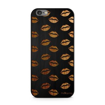 Black Bamboo - Lips Galore Phone Case