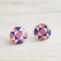 Geometric Posts, Triangles Posts, Pink and Blue Posts, Tiny Studs