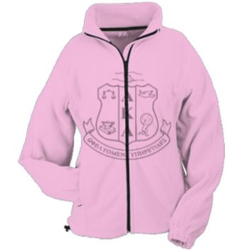 AKA Fleece Jacket - Alpha Kappa Alpha Sorority Crest Size XS-5XL