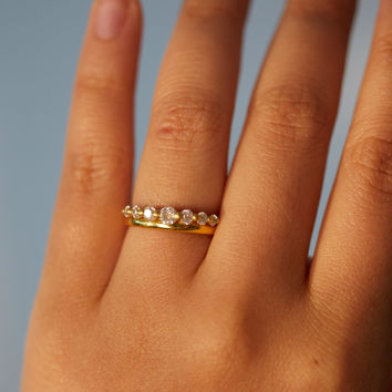 White Diamond Halo Ring - New Arrivals - Catbird
