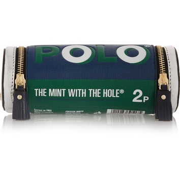 Anya Hindmarch - Polo Mints textured-leather clutch
