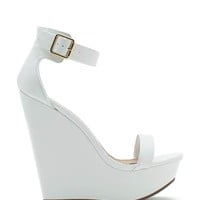 Vivi 01D Buckled Two Strap Wedge