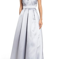 Eliza J Beaded Pleated Gown | Nordstrom