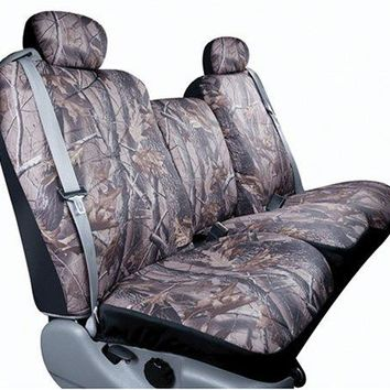 Saddleman Custom Made Rear Bench / Backrest Seat Cover - Polyester Fabric (Camouflage)