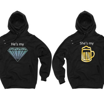 DIAMOND + BEER | Black Hoodies