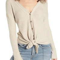 Socialite Thermal Button Front Shirt | Nordstrom
